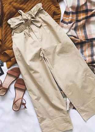 Классные широкие штаны на высокой посадке h&m !