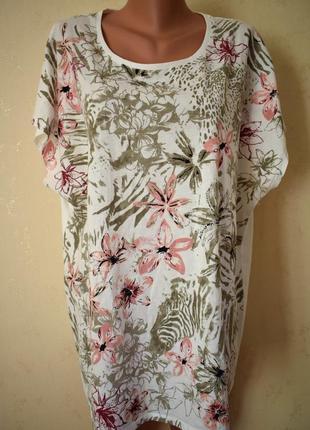 Трикотажная блуза с принтом большого размера bonmarche