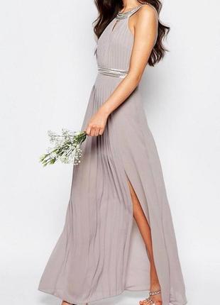 Нежное лавандовое платье очень красивая спинка спереди разрез tfnk