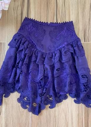 Шикарная кружевная юбка в стиле zimmermann