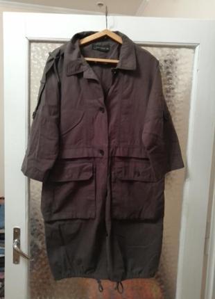 Жакет куртка оверсайз укорочені рукава зара