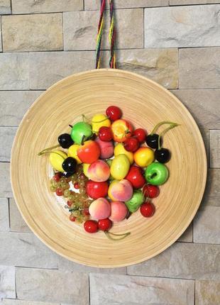 """Настенный декор для кухни """"фруктовый коктейль"""""""