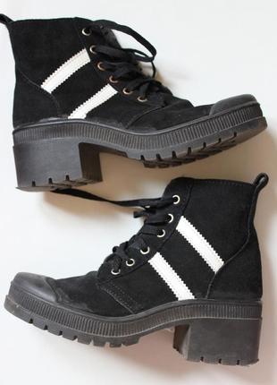 Ботинки, замша ,тракторная подошва, размер 35-36