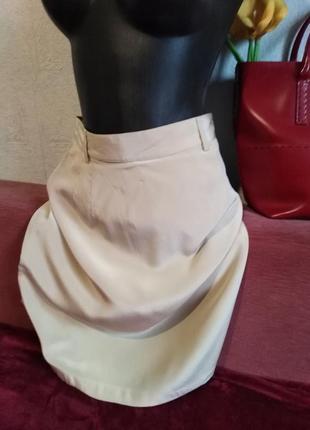 Натуральный шелк, телесная юбочка, apart