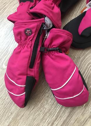 Утепленные непромокаемые краги варежки перчатки для девочки reserved польша 1-4 и 5-9 лет