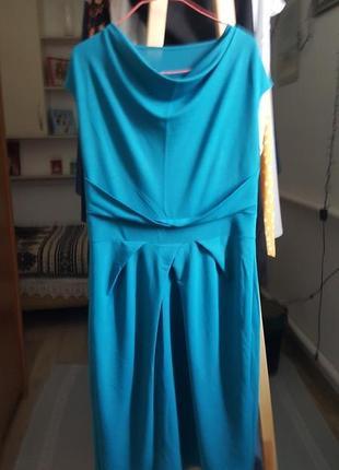 Новое женское платье голубое сарафан миди