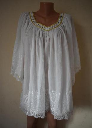 Новая крвсивая блуза с кружевом большого размера nana nucci