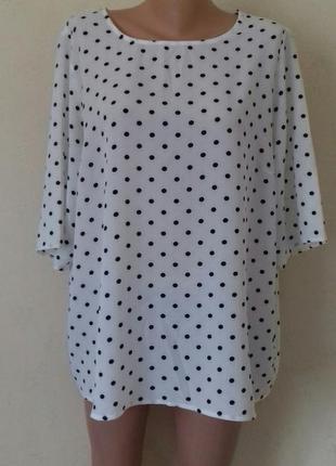 Блуза в горошек большого размера george