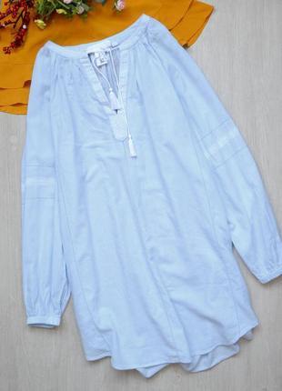 Вышиванка удлиненная блузка туника h&m