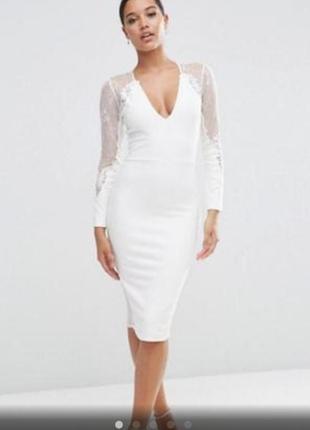 Молочное платье от asos