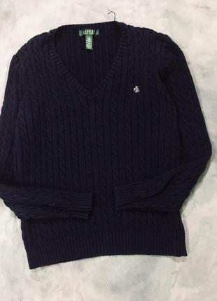 Оригинальный свитер с косами ralph lauren