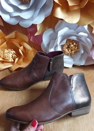 Tamaris ботинки із натуральної шкіри