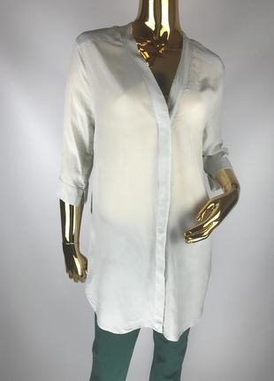 Шелковая удлиненная рубашка оверсайз/oversized all saints