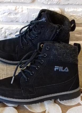 Крутые деми (осень-весна) ботинки fila (ориг). размер 34 (стелька 22 см)