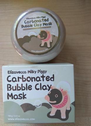 Elizavecca milky piggy carbonated bubble clay mask 100g пузырьковл-глинянная маска
