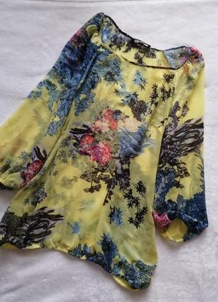 Шёлковая нежная блузка в цветочный принт