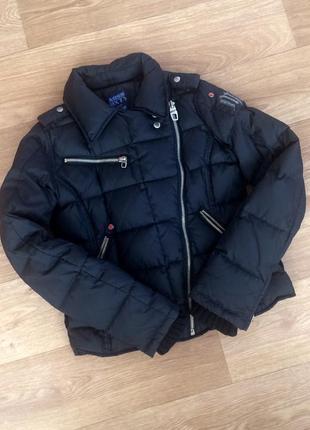 Тёплая стильная куртка пуфер / пуховик miss sixty