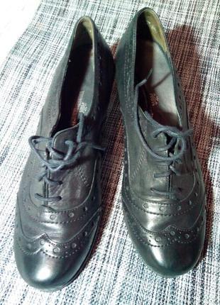 Кожаные туфли, оксфорды.