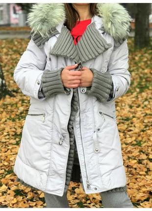 Теплая, зимняя куртка snow beauty
