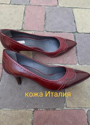 Новые туфли италия кожа
