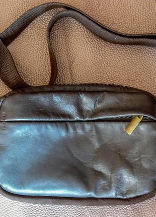 Мужская кожаная поясная сумка(бананка) ручной работы
