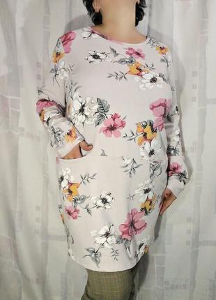 Платье, блузон, туника из теплого трикотажа, 95% хлопка