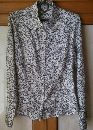 Карасивая атласная рубашка блуза sela