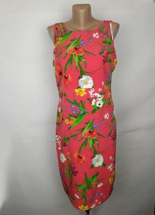 Платье плотное модное цветочное красивенное soon uk 14/42/l