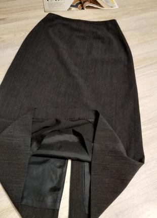 Натуральная шерсть.юбка карандаш макси прямая