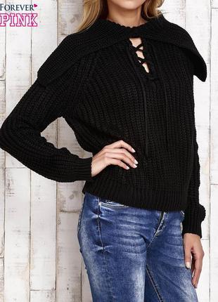 Новая двухсторонняя женская кофта forever pink свитер с широким воротником 17-62