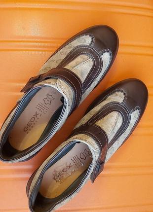 Туфли geox кожа замша р.37, италия