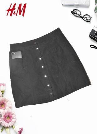 Новая юбка с карманами под замшу divided by h&m