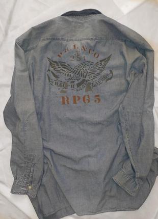 Polo ralph lauren джинсовая рубашка очень большой размер 4xlt