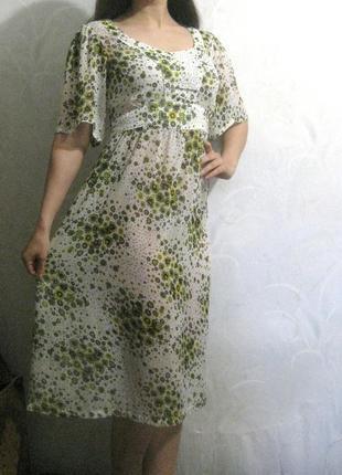 Платье peppercorn летнее лёгкое белое зелёное жёлтое разноцветное шифон