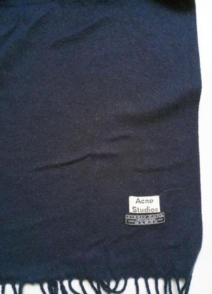Acne studio большой шерстяной шарф