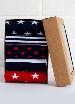 Набор ярких носочков из 5 пар star box
