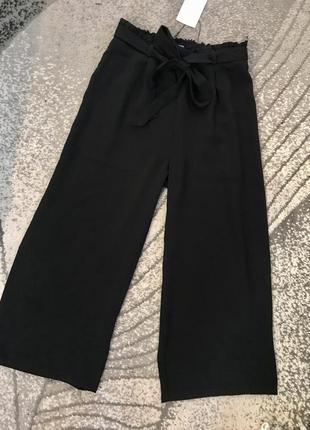 Новые чёрные брюки кюлотами кюлоты