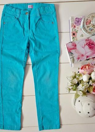 Бирюзовые джинсы f&f 6-7 лет