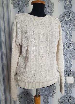 Вязаная кофта свитер джемпер косичка sc&co