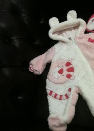 Комбинезон + шапка для новорожденной девочки 0 - 6 мес. !!!