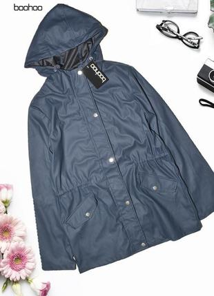 Новая полиуретановая куртка непромокаемая дождевик boohoo