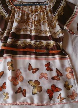Очень красивая шелковая блуза туника favori