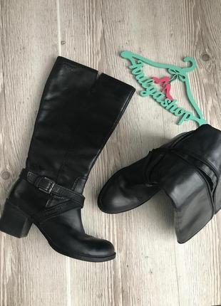 Удобные кожаные сапоги утеплённые tex roberto santi