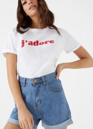 Шорты джинсовые boohoo высокая посадка