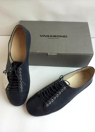 Тёмно-синие туфли ,полуботинки, мокасины от vagabond 41-го размера