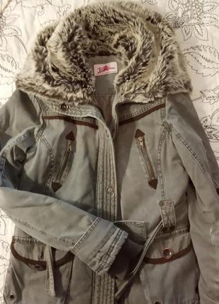 Теплая демисезонная куртка британского бренда + подарок