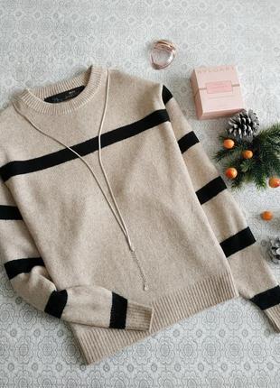 Шерстяной свитер, полоска (98% шерсть)