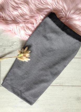 Теплая юбка миди карандаш на подкладке