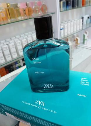 Zara man silver winter / духи / парфюм / туалетна вода / парфуми !!