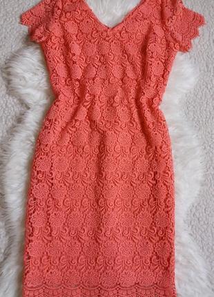 Шикарное кружевное платье миди george